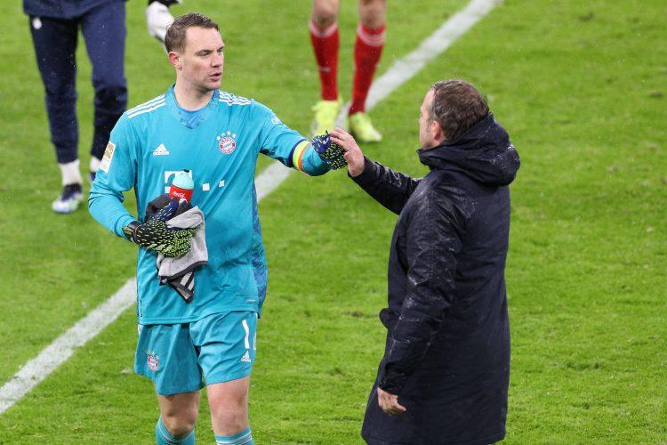 Manuel Neuer Hansi Flick Bayern München