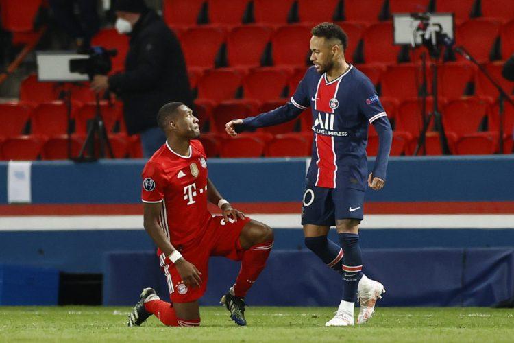 Neymar David Alaba PSG Bayern